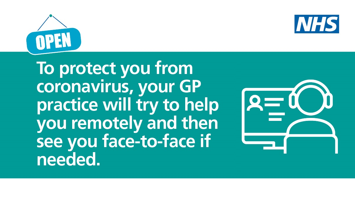 To protect you from coronavirus, your GP will try to help you remotely.